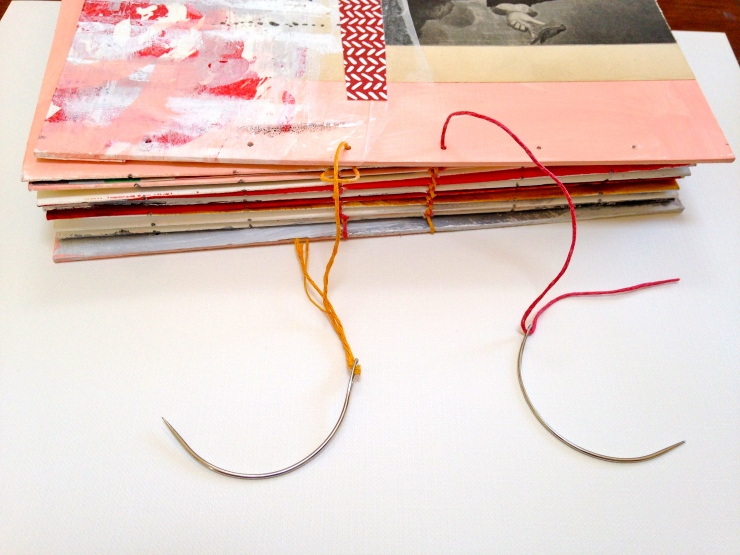 Paired Needle binding in progress